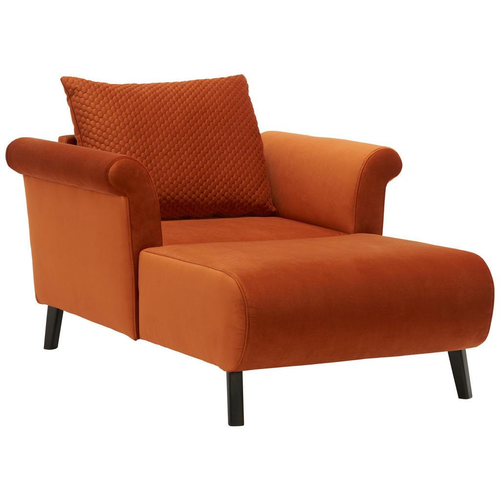 Livetastic BIG Sessel Flachgewebe Rostfarben