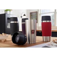 COFFEE-TO-GO-BECHER - Schwarz, Basics, Kunststoff/Metall (0.36l) - Emsa