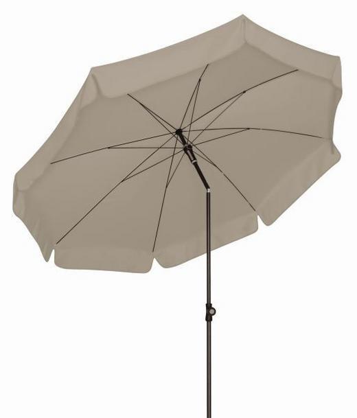 SONNENSCHIRM 200 cm Beige, Grau - Beige/Anthrazit, KONVENTIONELL, Textil/Metall (200cm)