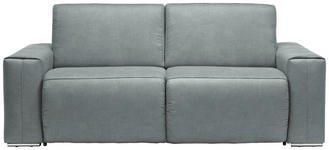 SCHLAFSOFA in Hellblau Textil - Chromfarben/Hellblau, Design, Textil/Metall (210/90/102cm) - DIETER KNOLL