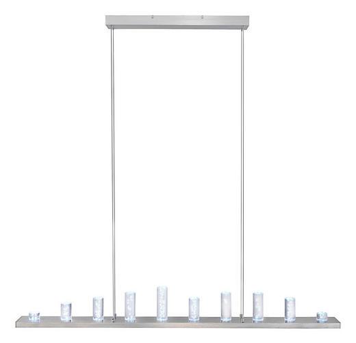 LED-HÄNGELEUCHTE - Nickelfarben, Design, Metall (120cm)