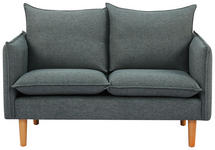 SOFA Webstoff Dunkelgrau  - Dunkelgrau, Design, Holz/Textil (130/84/82cm) - Novel