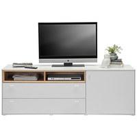 KOMODA - NISKA - bijela/boje hrasta, Design, drvni materijal/plastika (170,3/60,2/43cm) - HOM`IN
