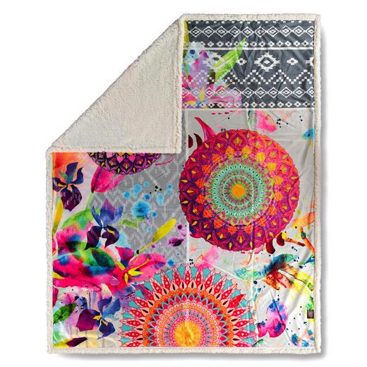 PLAID 130/160 cm Multicolor - Multicolor, Trend, Textil (130/160cm)