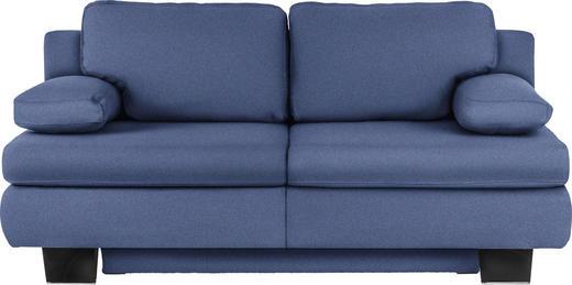 SCHLAFSOFA Blau - Blau/Wengefarben, KONVENTIONELL, Holz/Textil (203/94/100cm) - NOVEL