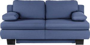 SCHLAFSOFA in Textil Blau  - Wengefarben/Blau, KONVENTIONELL, Holz/Textil (203/94/100cm) - Novel