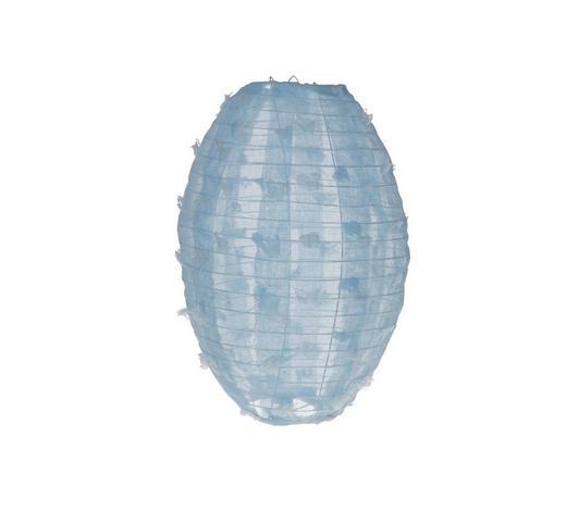 LAMPION   - Hellblau, Trend, Textil/Metall (25/36cm)