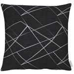KISSENHÜLLE Schwarz, Hellgrau  - Hellgrau/Schwarz, Design, Textil (46x46cm) - Ambiente