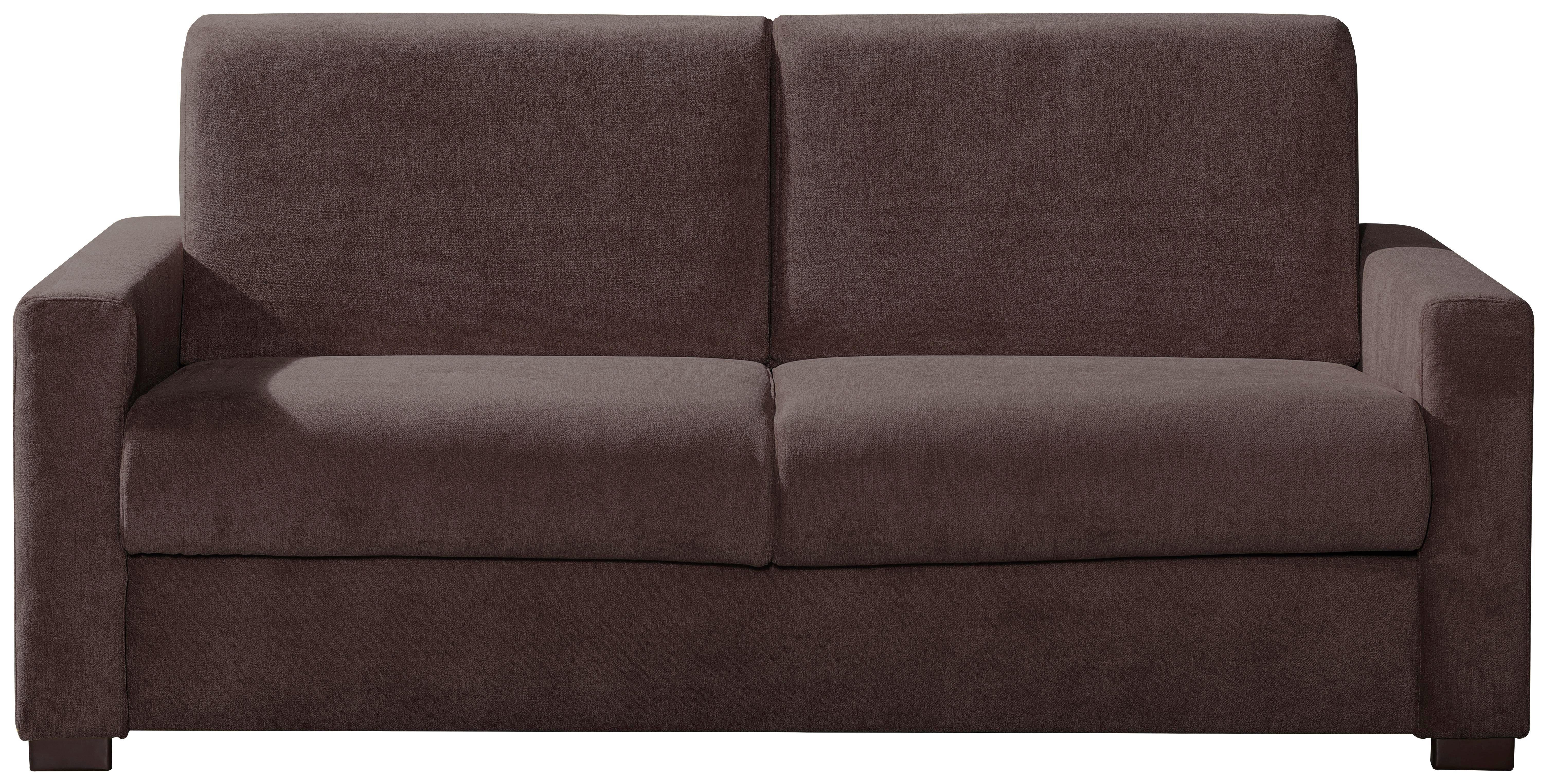 SCHLAFSOFA Braun - Chromfarben/Braun, KONVENTIONELL, Textil/Metall (168/88/99cm) - CARRYHOME