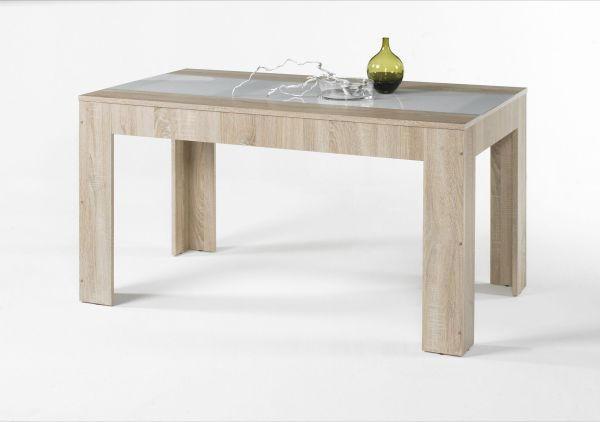 STOL ZA BLAGOVAONICU - bijela/boje hrasta, Design, staklo/drvni materijal (140/75/80cm) - BOXXX