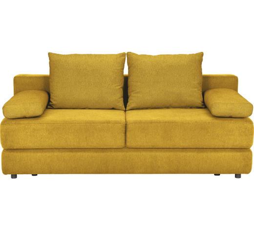 SCHLAFSOFA Webstoff Gelb - Gelb/Schwarz, KONVENTIONELL, Kunststoff/Textil (208/80/100cm) - Carryhome