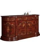 KOMODA SIDEBOARD, barvy ořechu, barvy zlata - barvy zlata/barvy ořechu, Lifestyle, kov/kompozitní dřevo (186/87/54cm) - Cantus