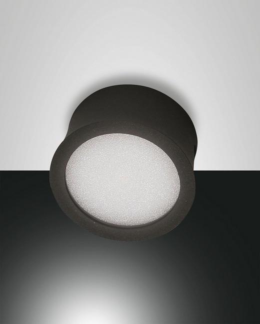 LED-DECKENLEUCHTE - Anthrazit, Design, Kunststoff/Metall (8/4cm)