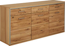 SIDEBOARD 184/89/45 cm - Eichefarben, KONVENTIONELL, Holz/Metall (184/89/45cm) - Cantus