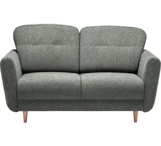 ZWEISITZER-SOFA in Textil Grau  - Grau, Design, Holz/Textil (154/90/93cm) - Hom`in