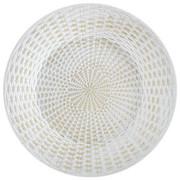 PLATZTELLER  30 cm - Goldfarben/Weiß, LIFESTYLE, Holz (30cm) - Ambia Home