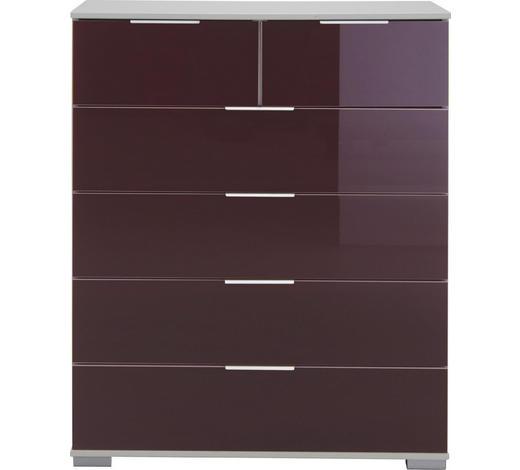 KOMODA, bílá, ostružinová - bílá/ostružinová, Design, kov/kompozitní dřevo (82/102/42cm) - Carryhome