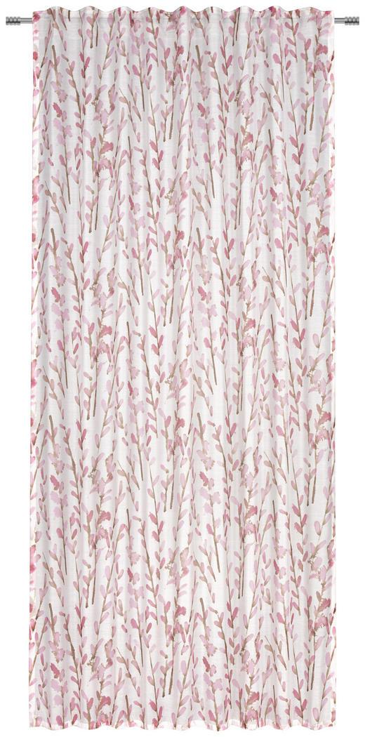 FERTIGVORHANG  transparent  140/245 cm - Rosa, KONVENTIONELL, Textil (140/245cm) - Esposa