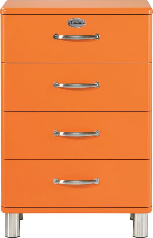 KOMMODE Orange - Orange/Nickelfarben, Design, Metall (60/92/41cm) - Carryhome
