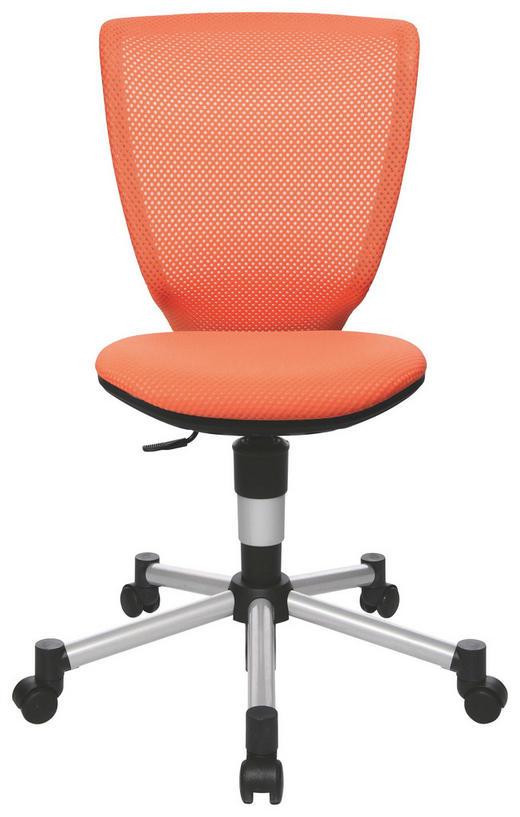 JUGENDDREHSTUHL Orange, Schwarz, Silberfarben - Silberfarben/Schwarz, Basics, Kunststoff/Textil (44cm) - Xora