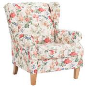 FOTELJ  večbarvno tekstil - hrast/večbarvno, Konvencionalno, tekstil (92/104/90cm) - Ambia Home