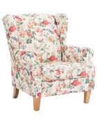 FOTELJ,  večbarvno tekstil - hrast/večbarvno, Konvencionalno, tekstil (92/104/90cm) - Ambia Home