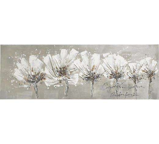 Blumen BILD  - Weiß, LIFESTYLE, Holz/Textil (50/150cm) - Monee