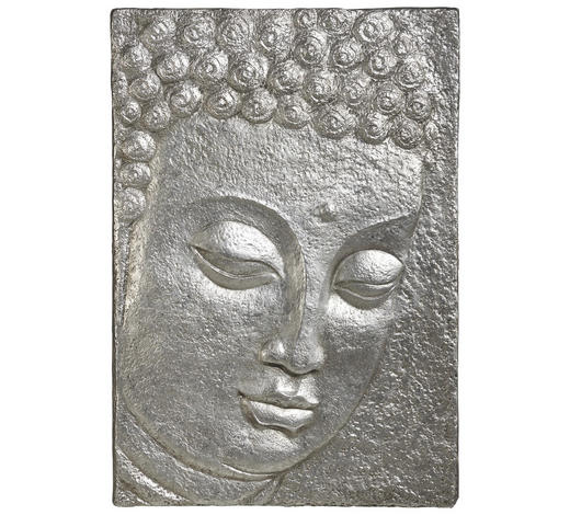BILD  - Silberfarben, LIFESTYLE, Kunststoff (89/129cm) - Monee