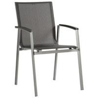 Elegant STAPELSESSEL Aluminium Anthrazit, Graphitfarben, Silberfarben    Anthrazit/Silberfarben, Design, ...