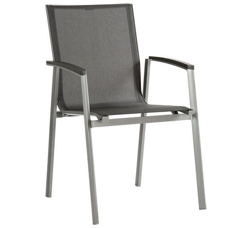 STAPELSESSEL Aluminium Anthrazit, Graphitfarben, Silberfarben - Anthrazit/Silberfarben, Design, Textil/Metall (57/89/65cm) - Stern