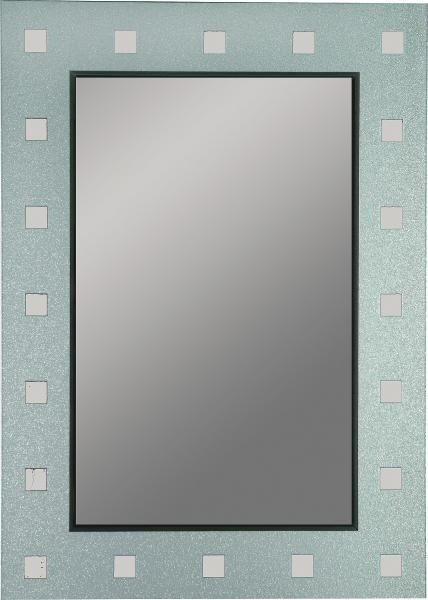 OGLEDALO - boje srebra/antracit, Design (50/70/0,3cm) - BOXXX
