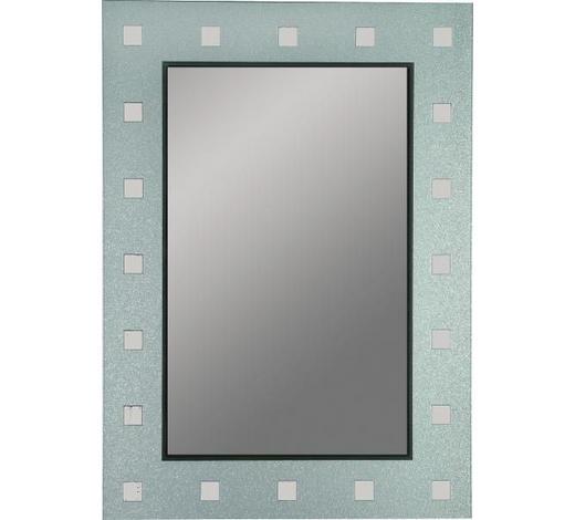 ZRCADLO, obdélníkové - barvy stříbra/antracitová, Design (50/70/0,3cm) - Boxxx