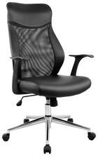 VRTLJIVI STOL kovina, les, tekstil, umetna masa črna - črna/srebrna, Design, kovina/umetna masa (66/110-120/65cm) - Xora