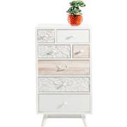 KOMMODE Tanne massiv Naturfarben, Weiß - Weiß/Naturfarben, LIFESTYLE, Holz/Holzwerkstoff (50/99/35cm) - Kare-Design