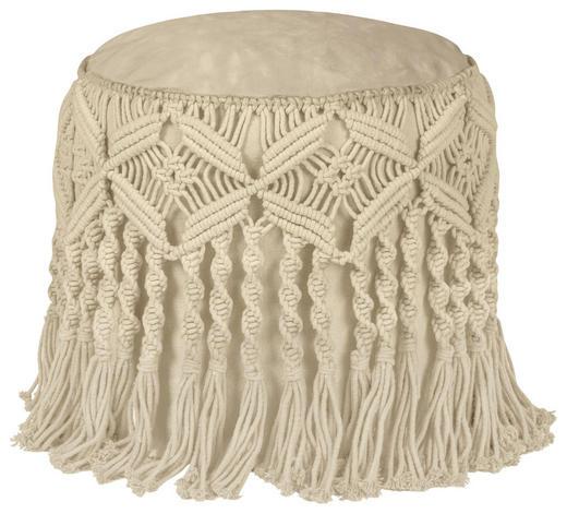POUF in Textil Beige - Beige, Trend, Textil (45/40/cm) - Ambia Home