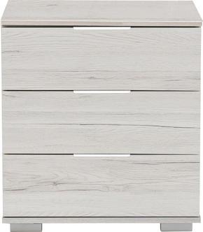 SÄNGBORD - vit/alufärgad, Design, metall/träbaserade material (52 58 38cm) - Carryhome