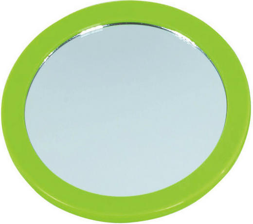 KOSMETIKSPIEGEL Grün - Grün, Basics, Glas/Kunststoff (16cm)