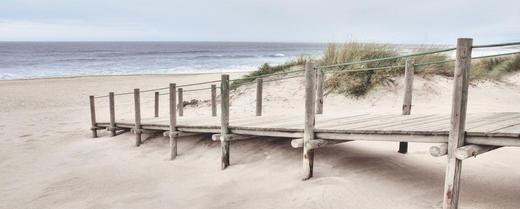 Strand & Meer GLASBILD - Multicolor, Basics, Glas (50/125/2,00cm) - Eurographics