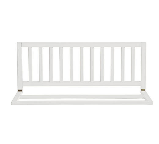 OCHRANNÁ MŘÍŽKA NA POSTÝLKU - bílá, Basics, dřevo (102/42cm) - My Baby Lou