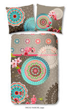 BETTWÄSCHE Satin Multicolor, Taupe 135/200 cm - Taupe/Multicolor, Trend, Textil (135/200cm)