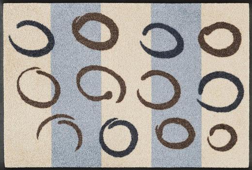 FUßMATTE 50/75 cm Graphik Beige - Beige, Kunststoff/Textil (50/75cm) - Esposa