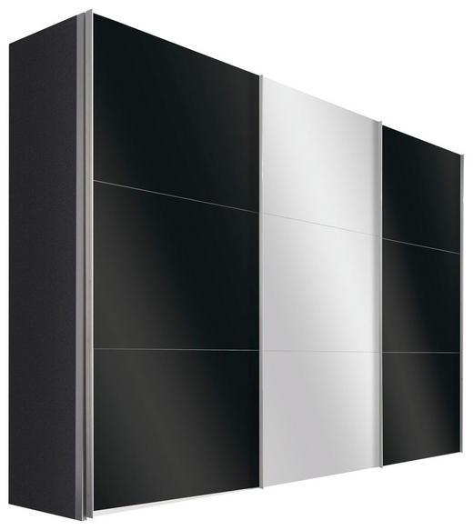 SCHWEBETÜRENSCHRANK in Graphitfarben - Alufarben/Graphitfarben, Design, Glas/Holzwerkstoff (300/216/68cm) - Hom`in