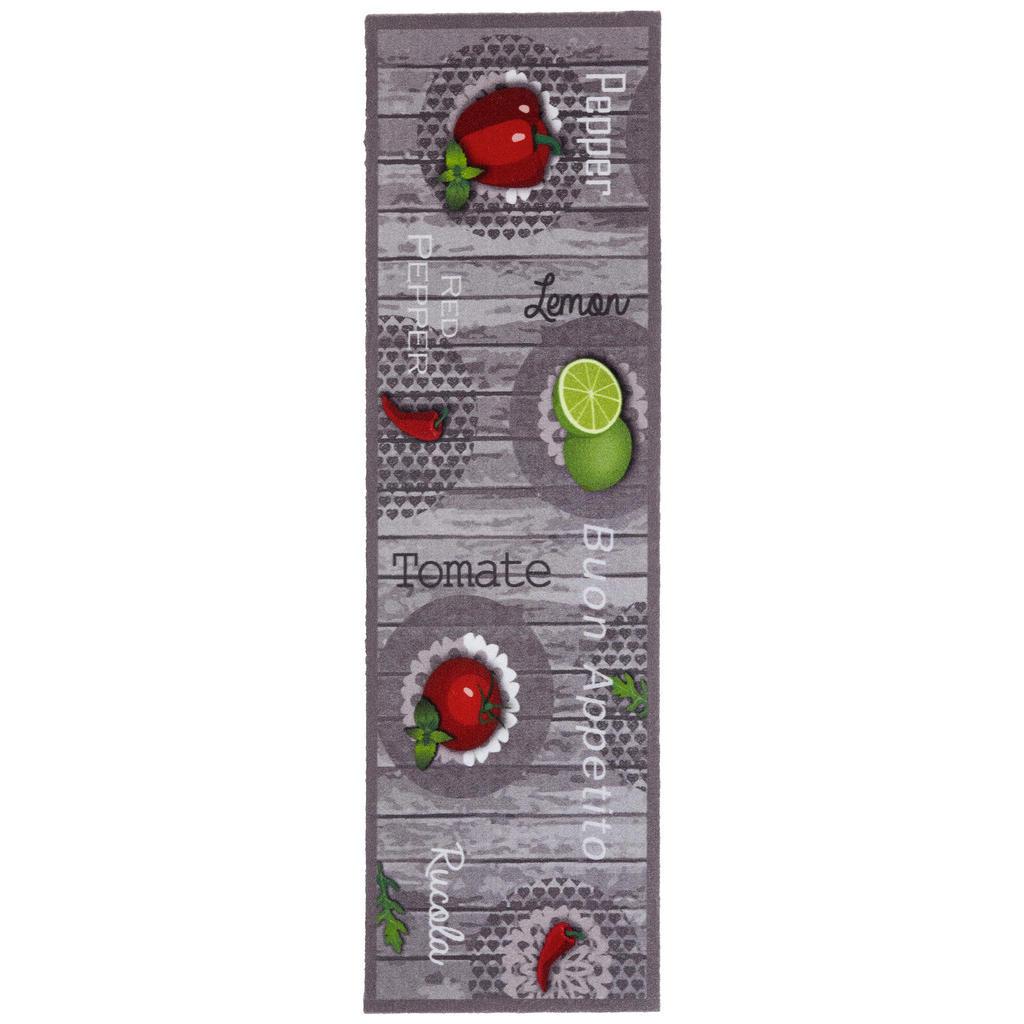 Koberec Do Kuchyně 45/150 Cm Šedá Zelená Červená Esposa - šedá zelená červená