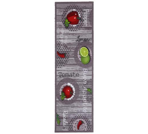 KOBEREC DO KUCHYNĚ, 45/150 cm, šedá, zelená, červená - šedá/zelená, Design, textil/umělá hmota (45/150cm) - Esposa