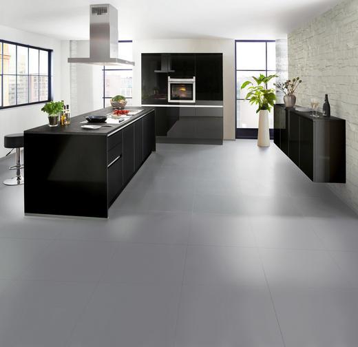 Einbauküche schwarz grau design nolte küchen