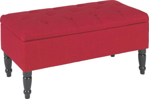 SITZBANK Flachgewebe Rot - Rot/Schwarz, LIFESTYLE, Holz/Textil (80/40/40cm) - Carryhome