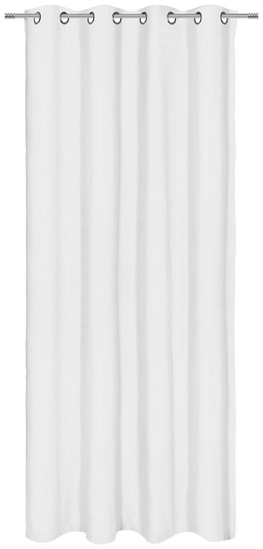 ÖSENSCHAL  blickdicht  140/250 cm - Weiß, KONVENTIONELL, Textil (140/250cm) - Esposa