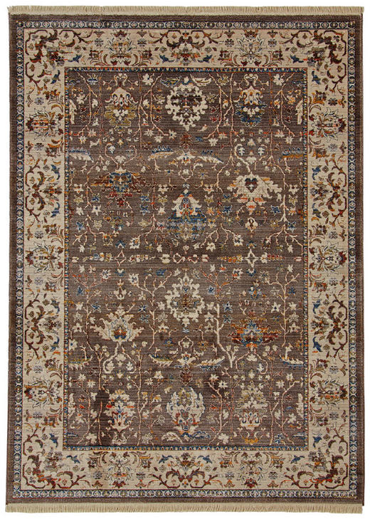 VINTAGE-TEPPICH - Blau/Beige, LIFESTYLE, Textil (120 153 cm) - Esposa