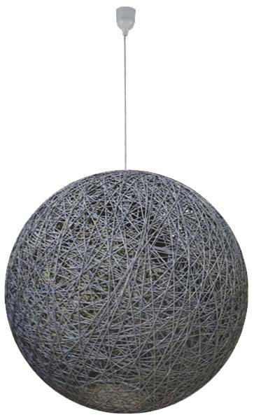 HÄNGELEUCHTE - Naturfarben/Grau, Basics, Kunststoff/Textil (76/135cm)