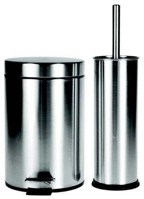BADRUMSSET - alufärgad, Basics, metall/plast